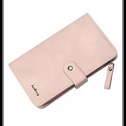 Клатч чоловічий гаманець портмоне барсетка Baellerry business NC224 Світло-рожевий