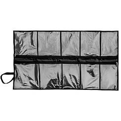 Несессер на молнии 10 отд., Чёрный, армейский несесер-сумка, походный органайзер, раскладной военный несесор