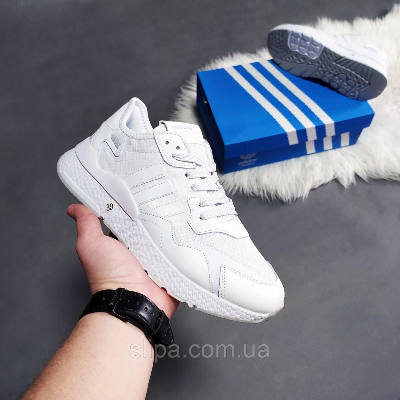 Білі кросівки жіночі Adidas Jogger   В'єтнам   еко-шкіра/текстиль + піна
