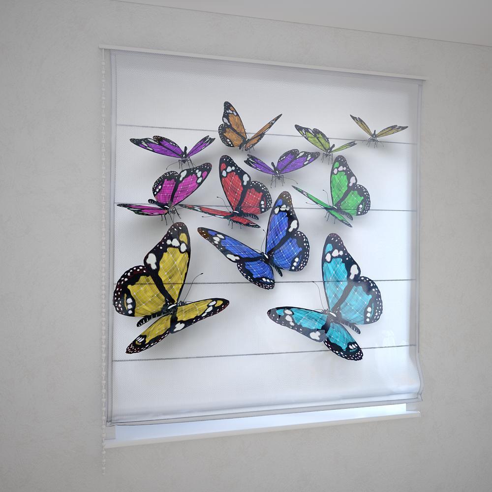 Римские фотошторы бабочки