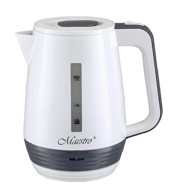 Электрочайник пластиковый Maestro MR-033 1.7 л 2200 Вт Белый / Серый
