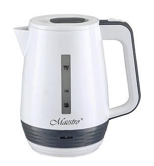 Электрочайник пластиковый Maestro MR-033 1.7 л 2200 Вт Белый / Серый, фото 2