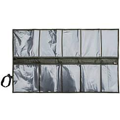 Несессер на молнии 10 отд., Олива, армейский несесер-сумка, походный органайзер, раскладной военный несесор