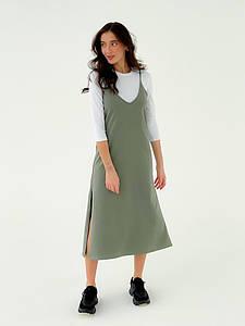 Р. 42-48 Женский повседневный костюм с гольфом и комбинацией миди