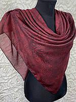 Женский хлопковый бордовый платок в этническом стиле (цв.10)
