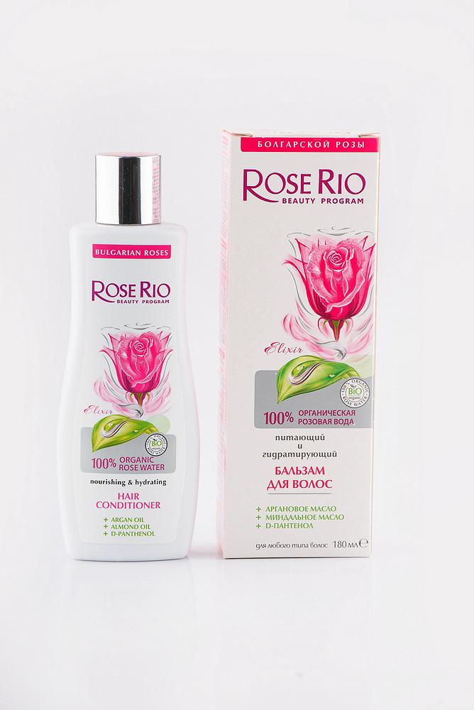 Бальзам для волосся поживний і зволожуючий Rose Rio 180 мл