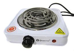 Переносная настольная электроплита Domotec MS 5801 спираль, кухонная бытовая плита