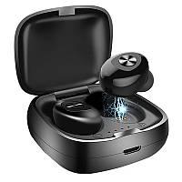 Беспроводные Bluetooth 5.0 наушники вкладыши, спортивные водонепроницаемые наушники с кейсом XG12, черные