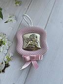 Серебряная икона детская Ангелочек с мелодией