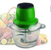 Кухонный электрический блендер двойной измельчитель Молния от LEOMAX для мяса овощей и фруктов чоппер