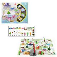 Игровой коврик «Городской трафик», игровое поле, 4 машинки, 20 аксессуаров, (RT001-3)