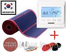 8м2. Комплект саморегулирующего инфракрасного теплого пола Rexva  с программируемым терморегулятором Е51