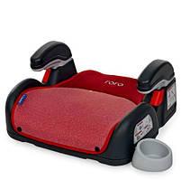 Автомобильный бустер RORO Isofix Navy 1144 детский, автокресло, изофикс, с подлокотником и подстаканником