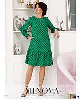 Милое платье в горошек с оборкой на подоле с 46 по 68 размер, фото 2