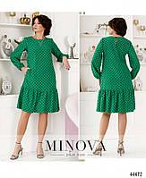 Милое платье в горошек с оборкой на подоле с 46 по 68 размер, фото 3