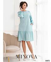 Милое платье в горошек с оборкой на подоле с 46 по 68 размер, фото 6