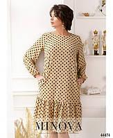 Милое платье в горошек с оборкой на подоле с 46 по 68 размер, фото 5