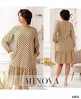Милое платье в горошек с оборкой на подоле с 46 по 68 размер, фото 7