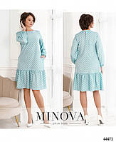 Милое платье в горошек с оборкой на подоле с 46 по 68 размер, фото 8
