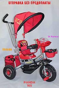Триколісний Велосипед Дитячий з Батьківською Ручкою Baby Club 16S CARS Тачки Червоні ПОЛЬЩА! Нові РОЗПРОДАЖ