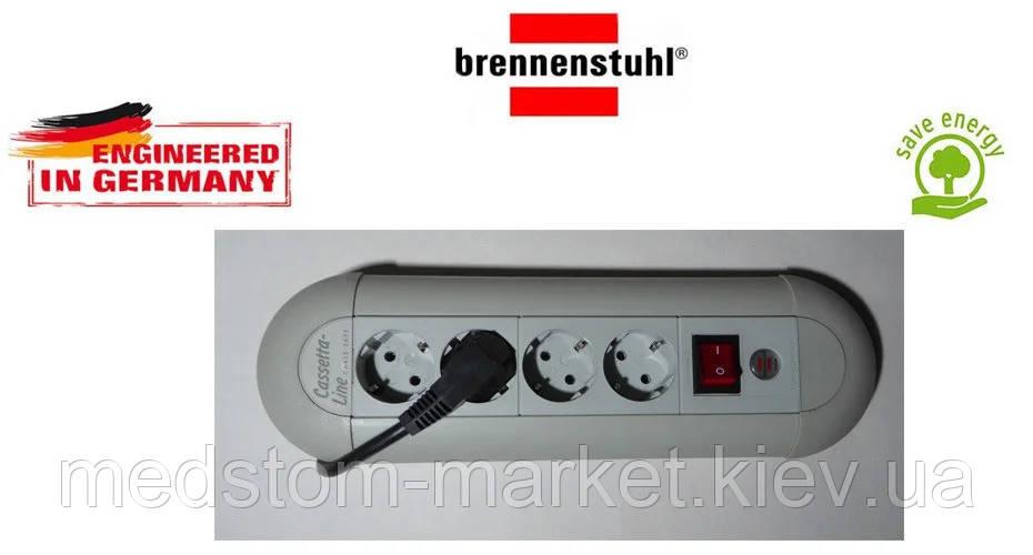 Удлинитель Brennenstuhl Casseta - Line на 4 розетки с кнопкой серый 1,8м