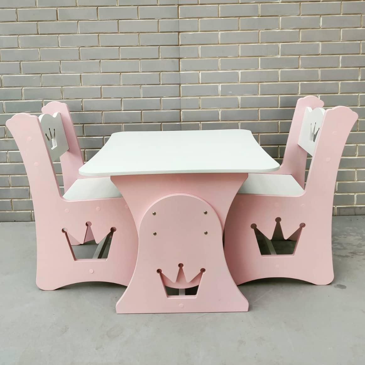 """Дитяча парта """"Корона"""" і 2 стільці"""