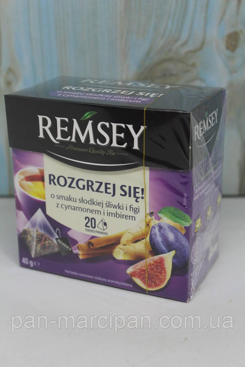 Чай пакетований Remsey slodkiej sliwki i figi z cynamonem i imbirem 20 пак Польща