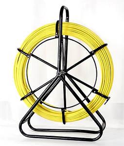 Кабельная протяжка 7мм х 100м + 2 наконечника на тележке - стеклопрут