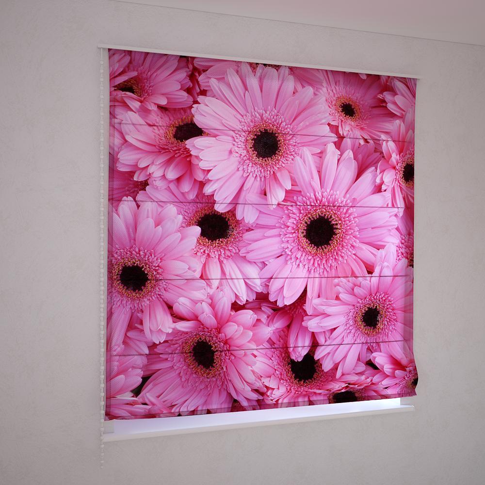 Римські штори квіти