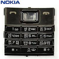 Клавиатура для Nokia 8800 Sirocco, оригинал (черная)
