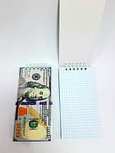 Блокнот на верхній спіралі у клітинку, 80 аркушів, 15 см * 7,5 см, ціна за 1 шт.