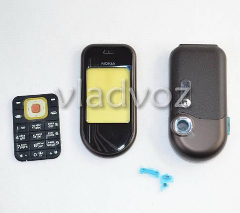 Корпус для Nokia 7370, 7373 чёрный c клавиатурой ААА, фото 2