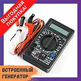 Мультиметр тестер вольтметр амперметр DT-838 Черный, фото 2