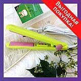 Мини утюжок для волос для прикорневого   Для выпрямления волос   Дорожный утюжок   Плойка   Gold Vatican, фото 4