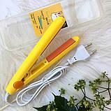Міні прасочку для волосся для прикореневого | Для випрямлення волосся | Дорожня праска | Плойка | Gold Vatican, фото 5