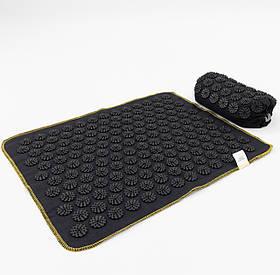 Масажний килимок + валик (аплікатор Кузнєцова) масажер для спини/голови/ніг OSPORT Lite ECO 50 (apl-026)