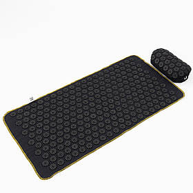 Масажний килимок + валик (аплікатор Кузнєцова) масажер для спини/голови/ніг OSPORT Lite ECO 80 (apl-027)