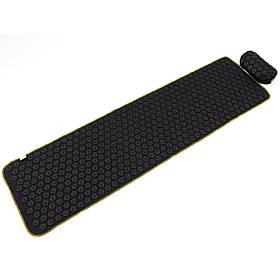 Масажний килимок + валик (аплікатор Кузнєцова) масажер для спини/голови/ніг OSPORT Lite ECO 145 (apl-028)