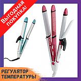 Утюжок - плойка для волос 3 в 1 Gemei GM-2921 для локонов / Выпрямитель / Гофре / Стайлер, фото 2