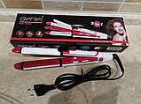 Утюжок - плойка для волос 3 в 1 Gemei GM-2921 для локонов / Выпрямитель / Гофре / Стайлер, фото 4