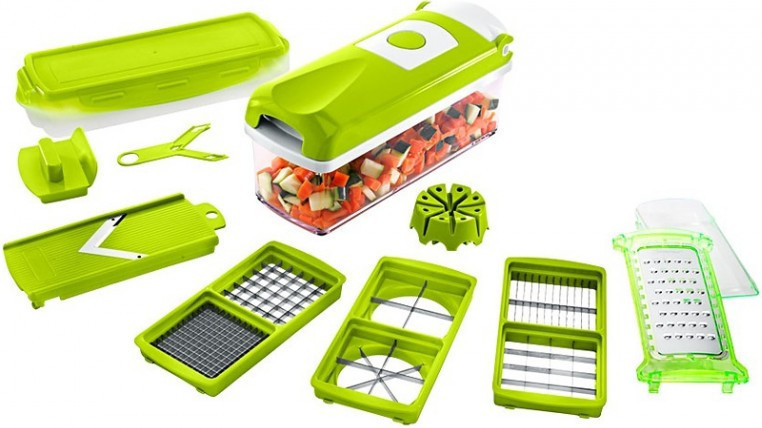 Овочерізка Найсер Дайсер, Nicer Dicer Plus подрібнювач продуктів / Машинка для салатів З КНИГОЮ РЕЦЕПТІВ