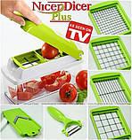 Овочерізка Найсер Дайсер, Nicer Dicer Plus подрібнювач продуктів / Машинка для салатів З КНИГОЮ РЕЦЕПТІВ, фото 6