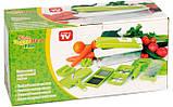Овочерізка Найсер Дайсер, Nicer Dicer Plus подрібнювач продуктів / Машинка для салатів З КНИГОЮ РЕЦЕПТІВ, фото 7