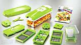 Овочерізка Найсер Дайсер, Nicer Dicer Plus подрібнювач продуктів / Машинка для салатів З КНИГОЮ РЕЦЕПТІВ, фото 8