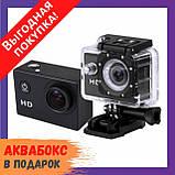 Экшн камера A7 FullHD + аквабокс + Регистратор Полный компект+крепление шлем, фото 2