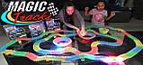 Детский набор - гоночная трасса MAGIC TRACК 220 деталей / Mеджик Трек - Гибкая автотрасса с двумя машинками, фото 7
