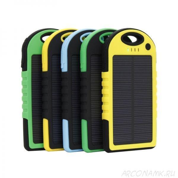 Портативний зарядний пристрій Solar Power Bank 30000 mAh на сонячній батареї | PowerBank LED / Повер Банк