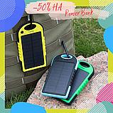 Портативний зарядний пристрій Solar Power Bank 30000 mAh на сонячній батареї | PowerBank LED / Повер Банк, фото 2