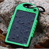 Портативний зарядний пристрій Solar Power Bank 30000 mAh на сонячній батареї | PowerBank LED / Повер Банк, фото 3