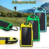 Портативний зарядний пристрій Solar Power Bank 30000 mAh на сонячній батареї | PowerBank LED / Повер Банк, фото 5